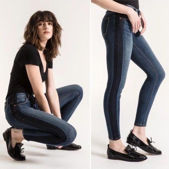 Level 99 Janice Constrast Side Stripe Jeans Skinny